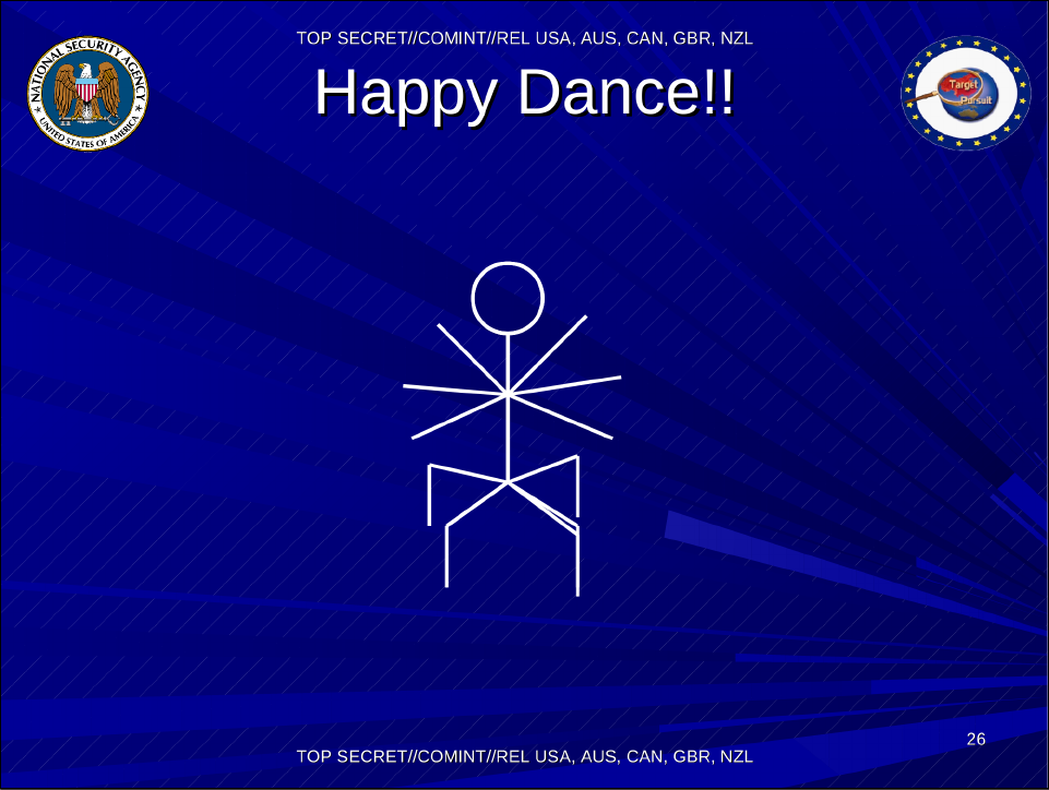 NSA Happy Dance